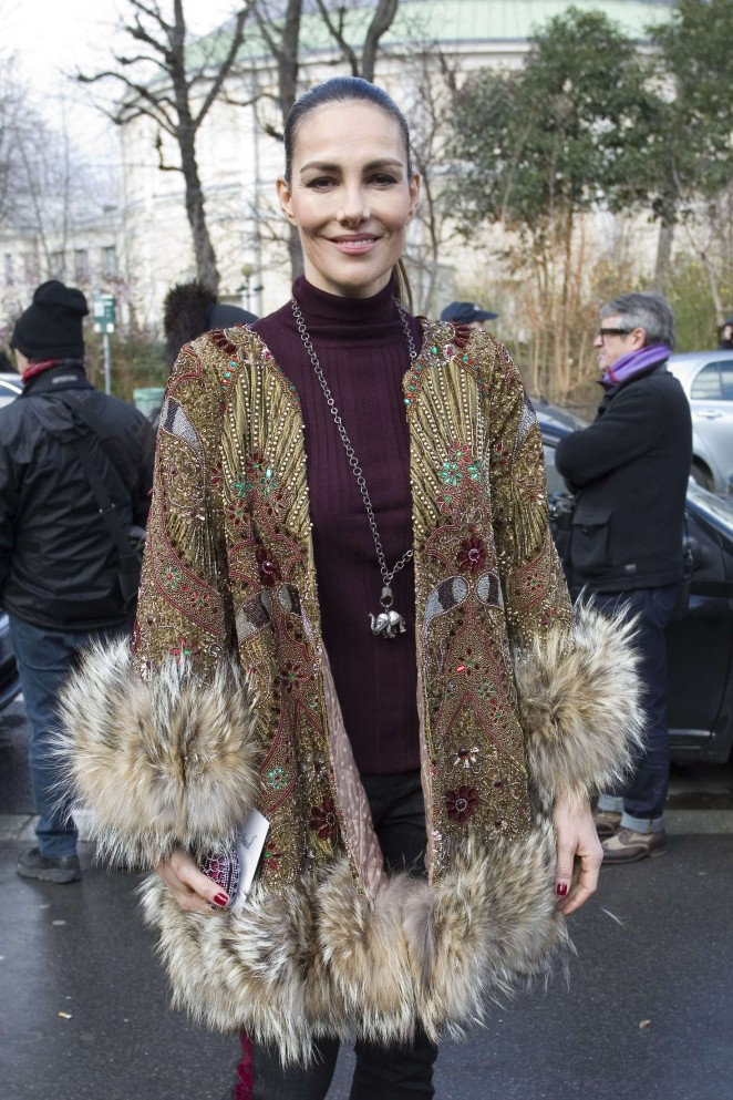 Adriana Abascal - Arriving the Giambattista Valli Fashion Show 2016 in Paris