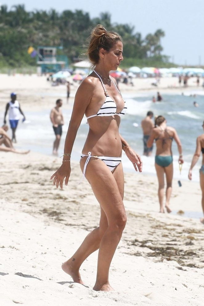 Adriana Fossa in Bikini on the beach in Miami