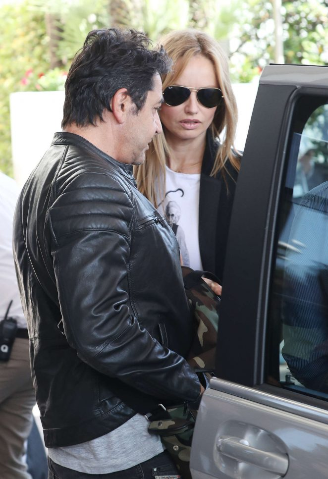 Adriana Karembeu: Arrives at Martinez Hotel -09