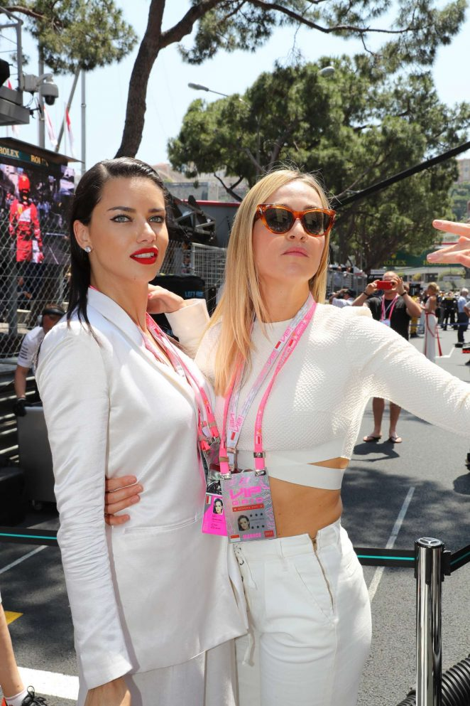 Adriana Lima and Carmen Jorda at Monaco Formula One Grand Prix in Monaco