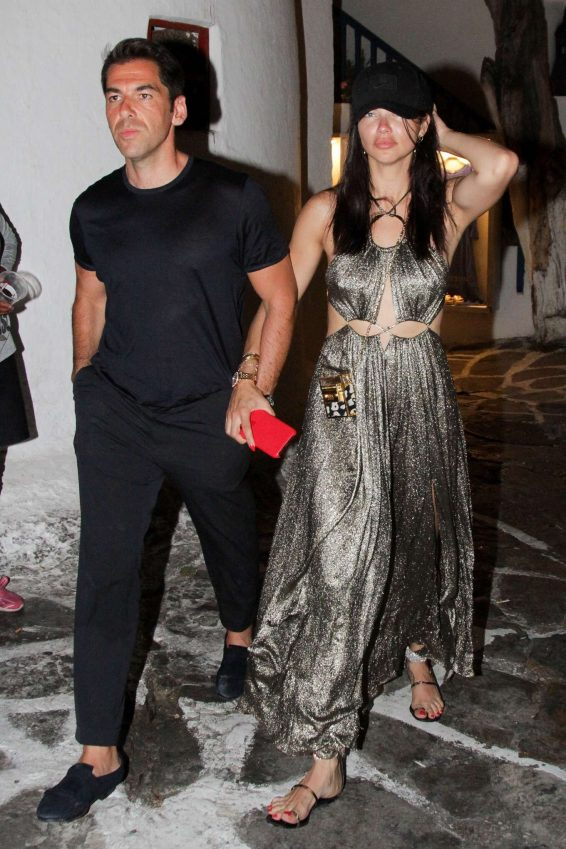 Adriana Lima and Emir Uyar - Night out in Mykonos