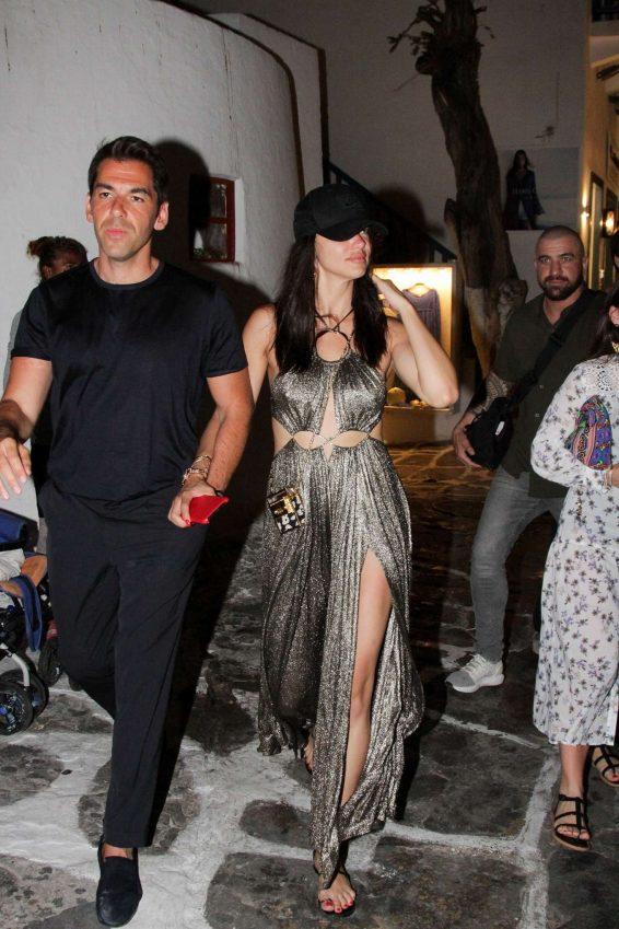 Adriana Lima 2019 : Adriana Lima and Emir Uyar – Night out in Mykonos-05