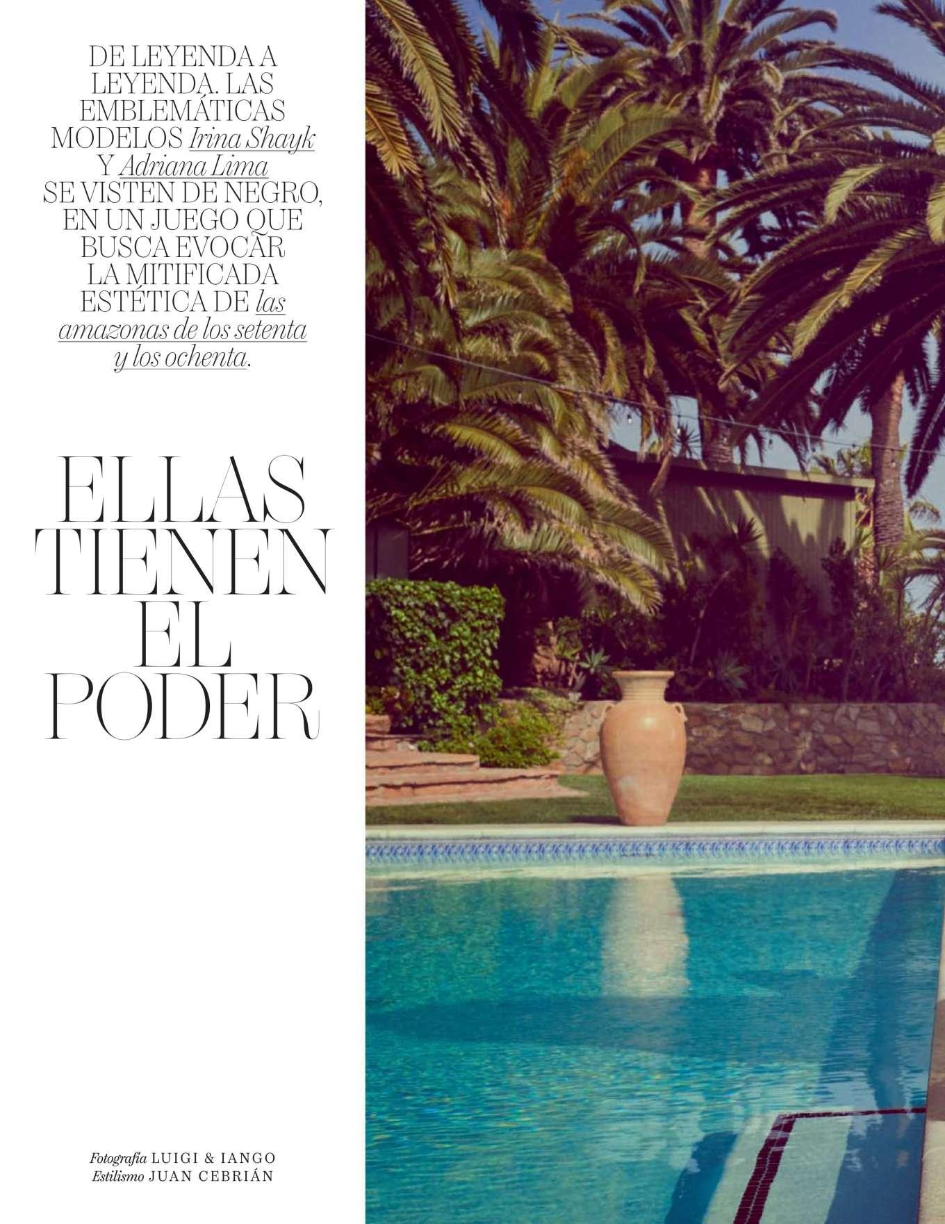 Adriana Lima 2019 : Adriana Lima and Irina Shayk – Vogue Espana 2019-08