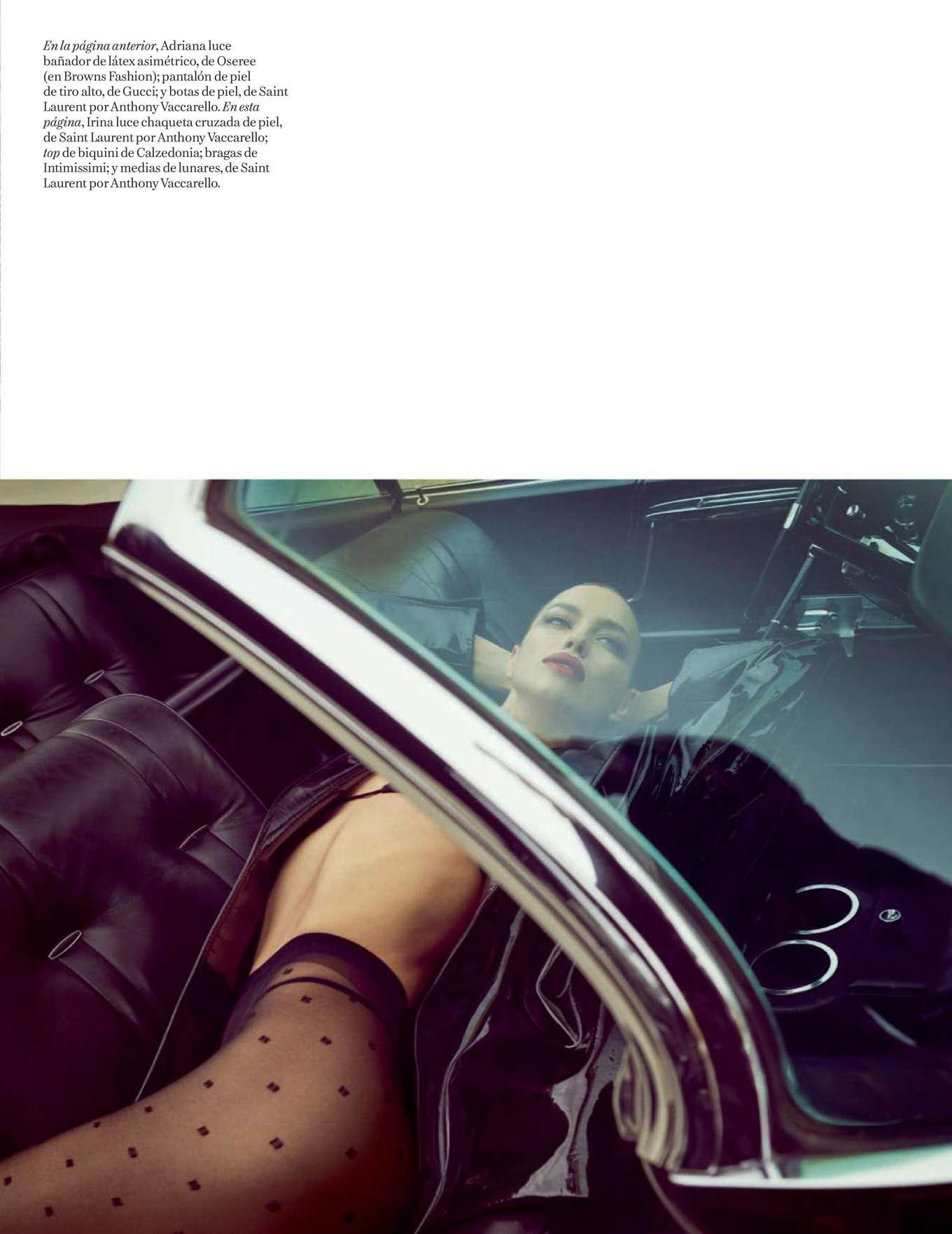 Adriana Lima 2019 : Adriana Lima and Irina Shayk – Vogue Espana 2019-17