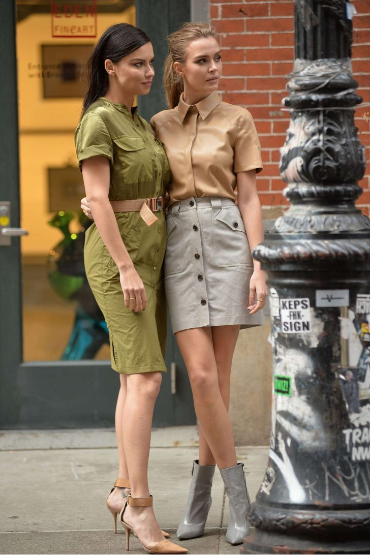 Adriana Lima and Josephine Skriver: On set for a Maybelline photoshoot -14