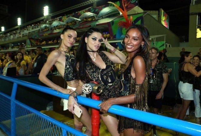 Adriana Lima and Lais Ribeiro at Carnaval in Rio