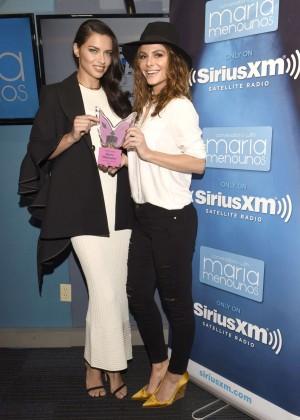 Adriana Lima and Maria Menounos at SiriusXM Studios in LA