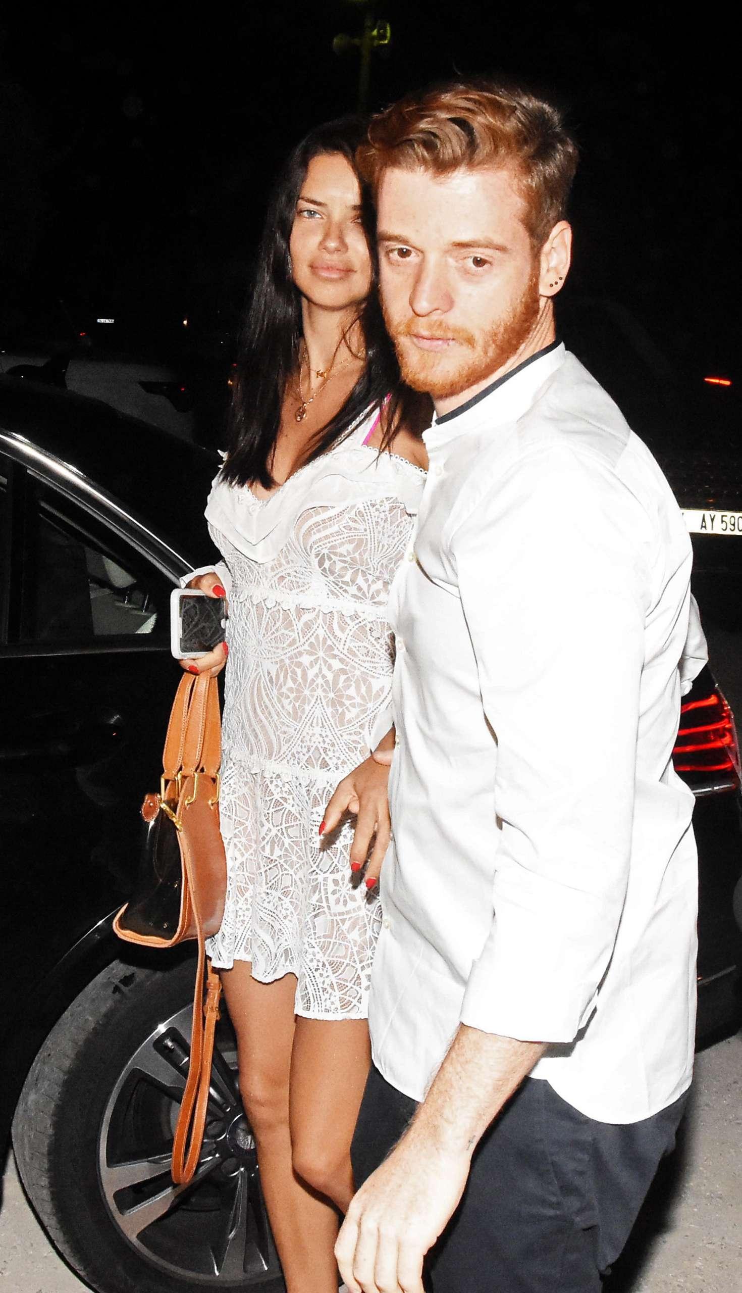 Adriana Lima and new boyfriend Metin Hara at the Memedof