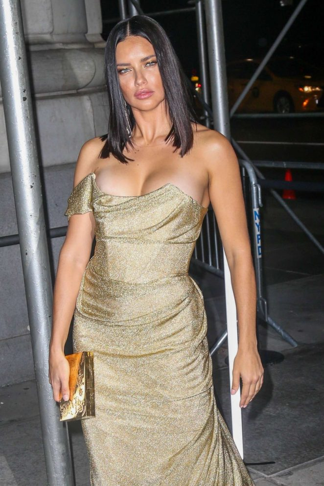 Adriana Lima - Arrives at Harper's Bazaar ICONS Party in New York