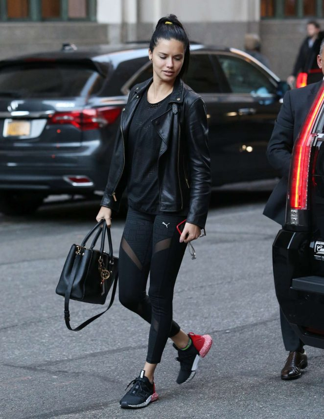 Adriana Lima - Arriving at her hotel in New York City