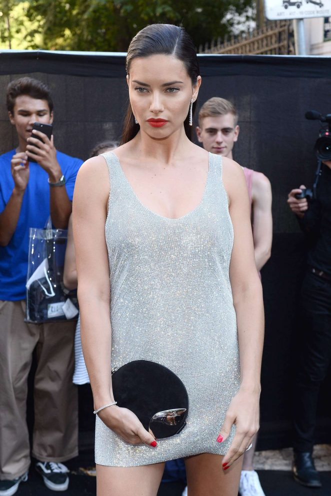 Adriana Lima - Arriving at Vogue Dinner Party in Paris