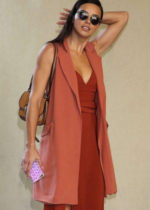 Adriana Lima at Bottega Veneta Show at Milan Fashion Week