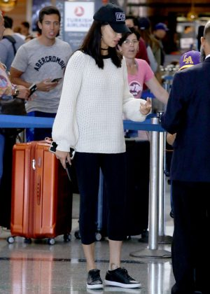Adriana Lima at Los Angeles International Airport in LA