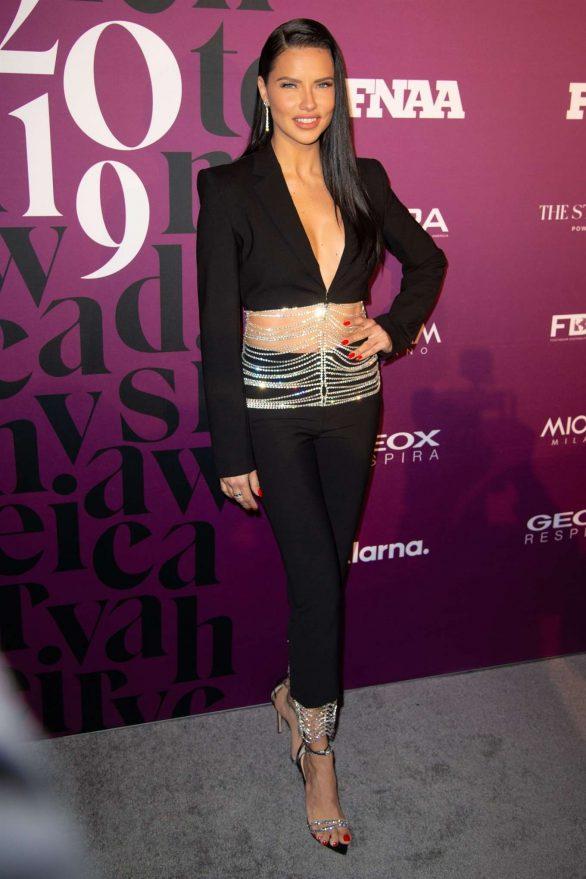 Adriana Lima - Footwear News Achievement Awards IAC in New York City