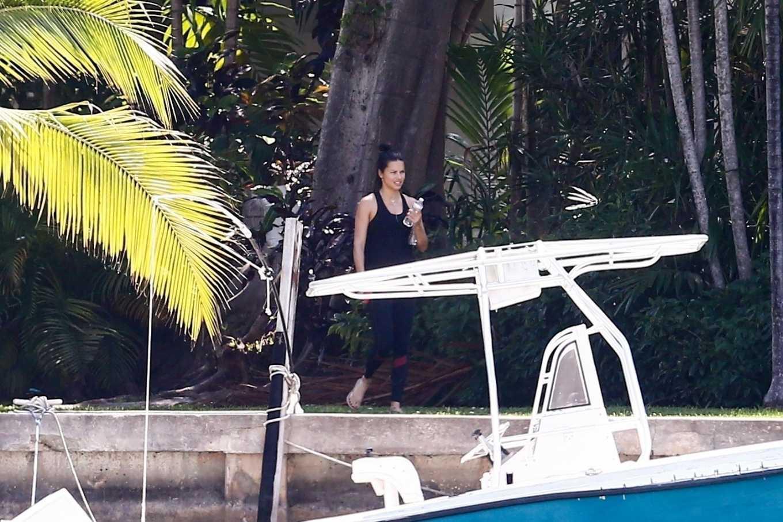Adriana Lima 2020 : Adriana Lima – Having fun at a pool in Miami-05