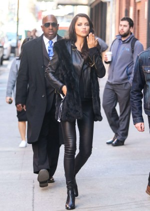 Adriana Lima - Headed to a shoot at Milk Studios in New York