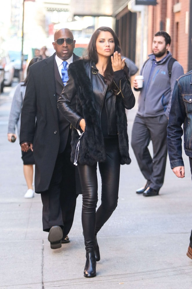 Adriana Lima – Headed to a shoot at Milk Studios in New York