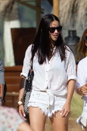 Adriana Lima in Cut-offs - Out in Marbella