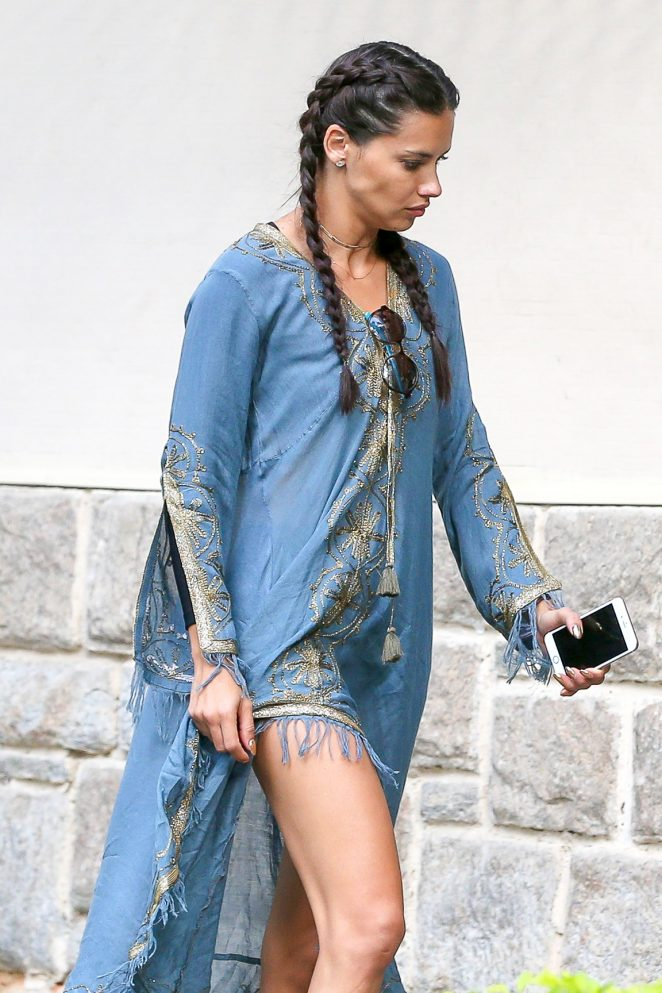Adriana Lima in Long Dress out in Rio de Janeiro