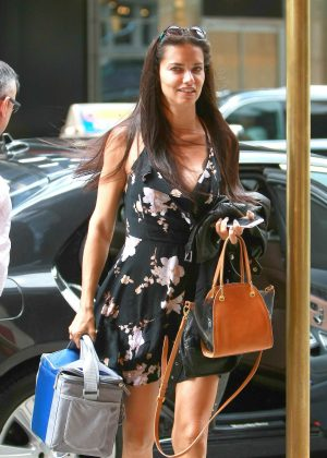 Adriana Lima in Mini Dress out in Manhattan