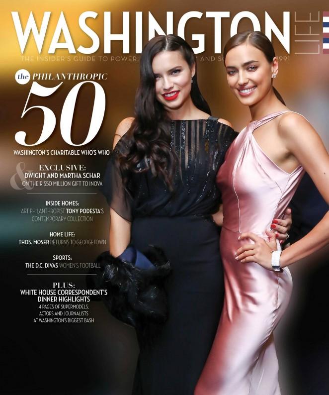 Adriana Lima & Irina Shayk - Washington Life Magazine Cover (June 2015)