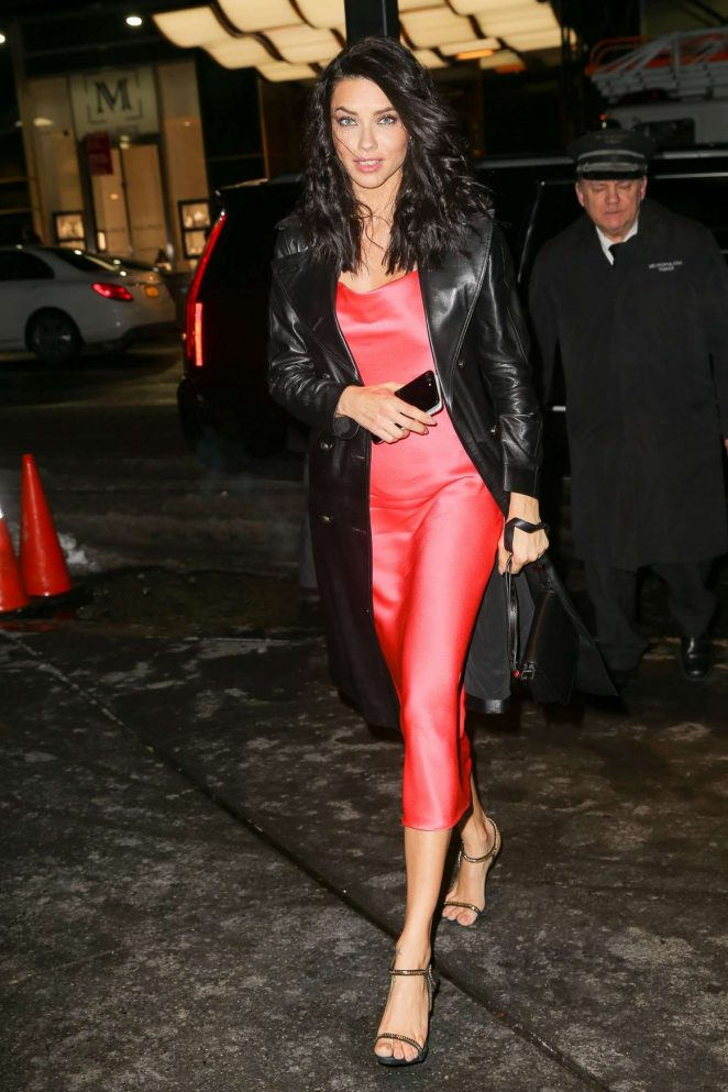 Adriana Lima - Leaves Jason Wu Fashion Show in New York