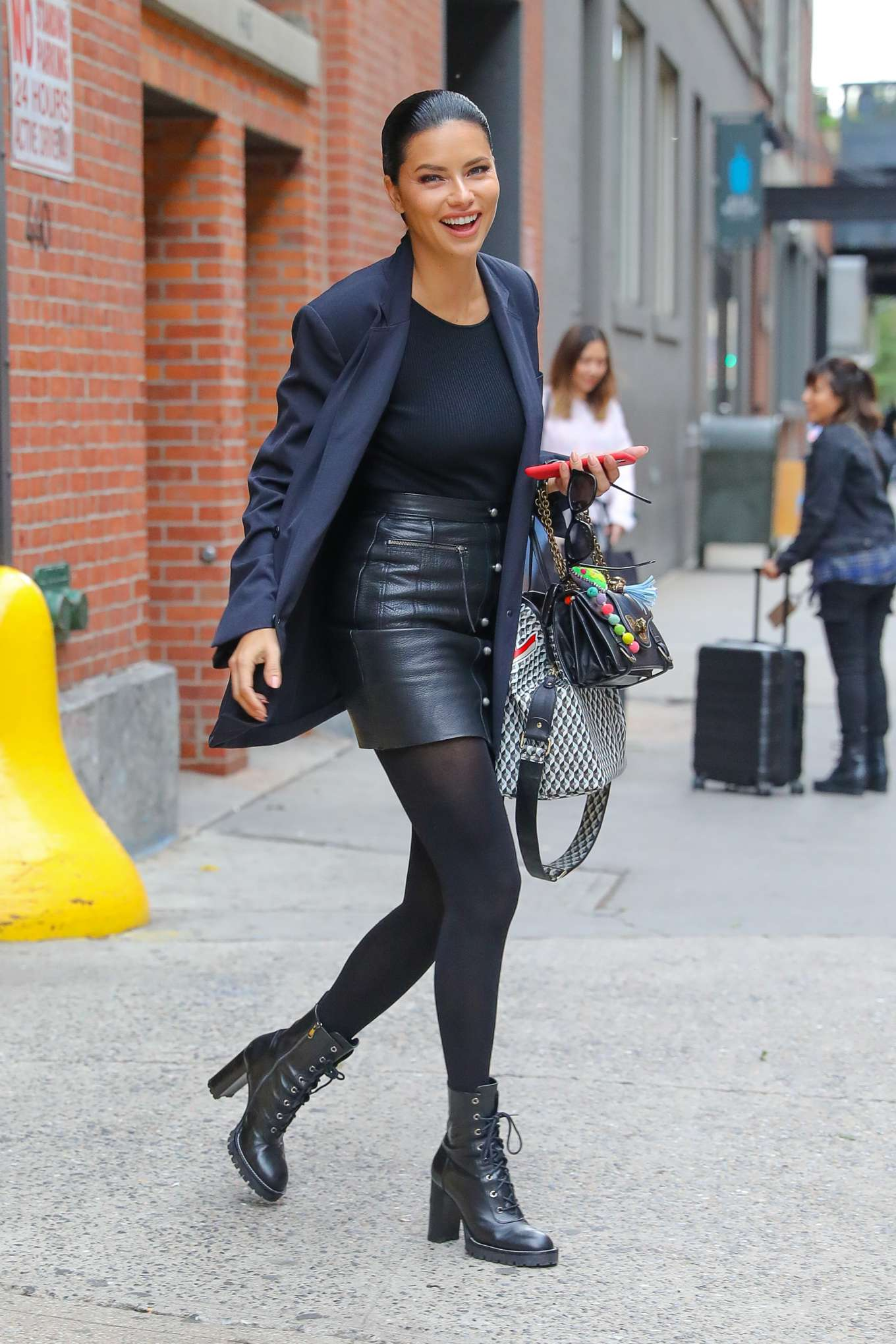 Adriana Lima - Leaving a photoshoot in New York