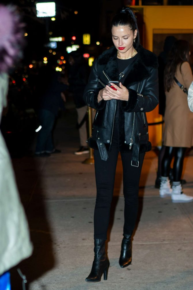 Adriana Lima – Leaving Cipriani SoHo in New York City