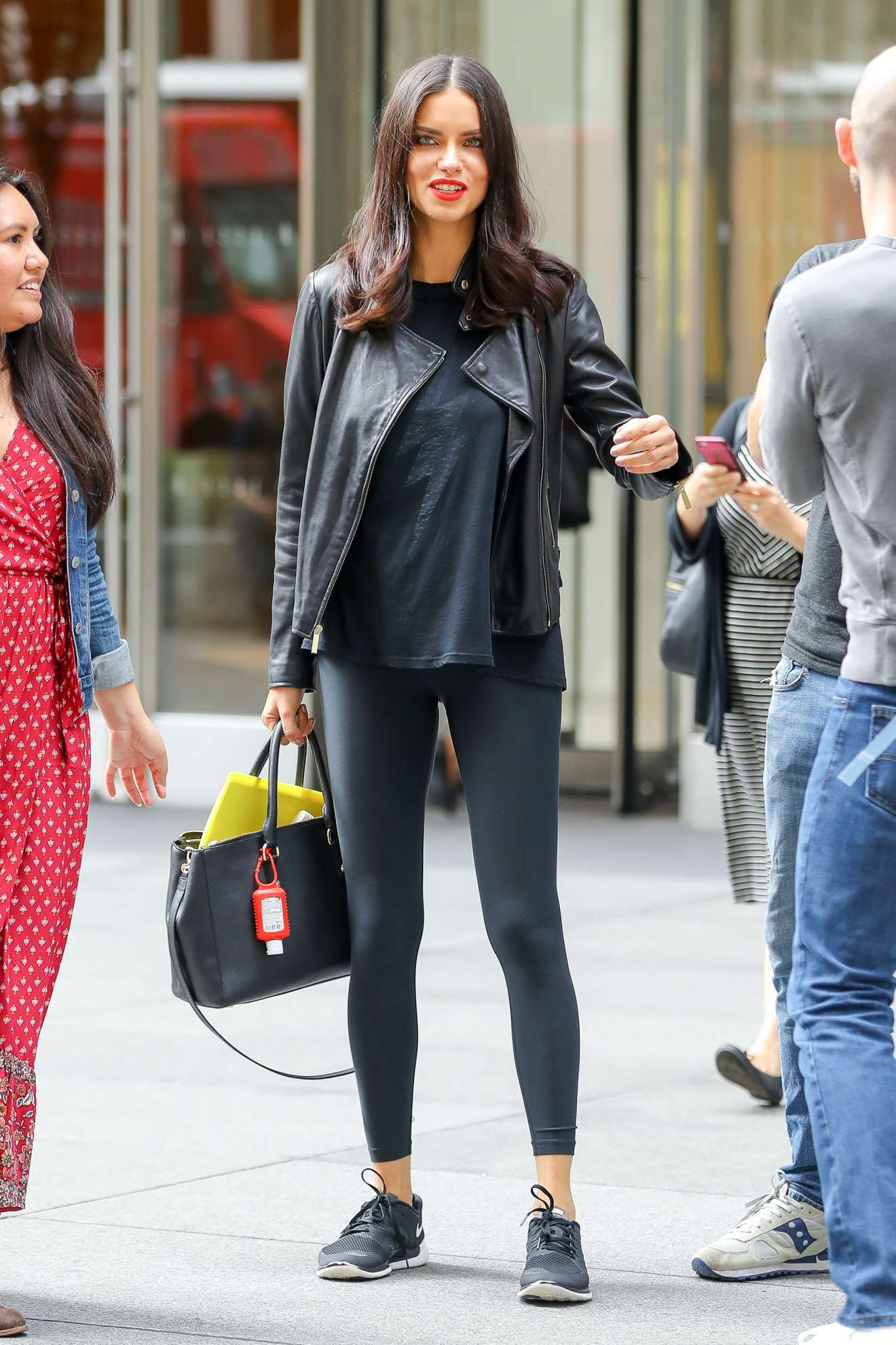 Nfl On Sirius >> Adriana Lima - Leaving SiriusXM studios in New York City