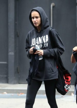 Adriana Lima - Leaving the gym in New York