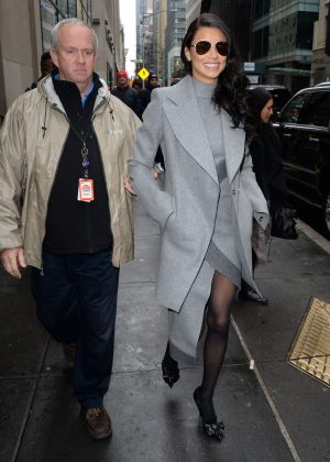 Adriana Lima - Leaving the Today in New York