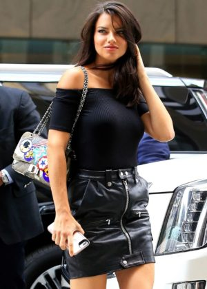 aae4d5deba6f4 Adriana Lima - Making her arrival to the Victorias Secret Office for her  fitting