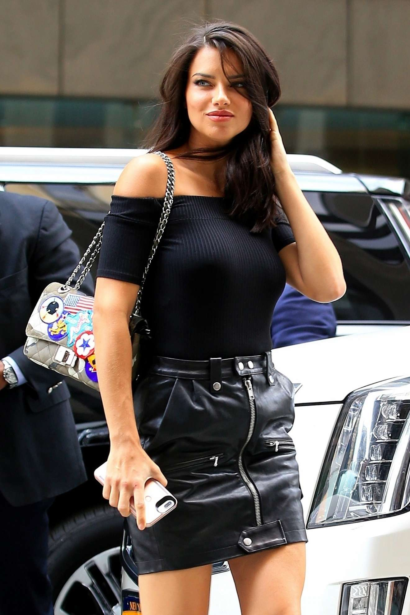Adriana Lima – Making her arrival to the Victorias Secret