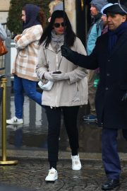 Adriana Lima - On a rainy day in Paris