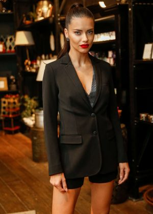 Adriana Lima opening of a clothing store at Shopping Leblon in Rio de Janeiro