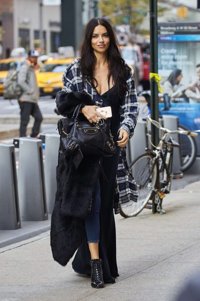 Adriana Lima out in New York City