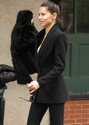 Adriana Lima out in New York