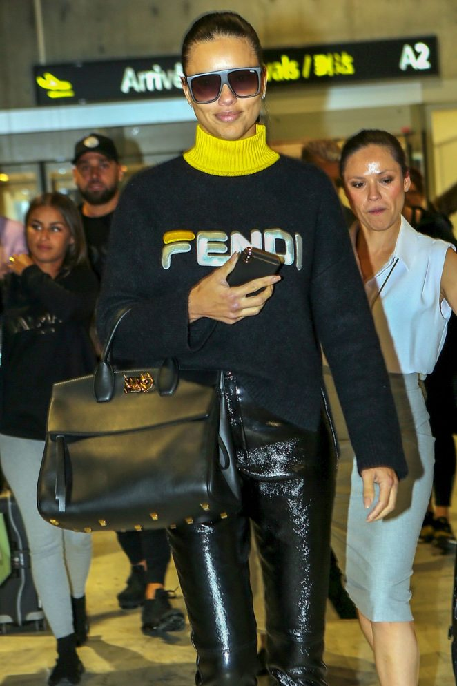 Adriana Lima - Pictured While Arrives at Nice Airport