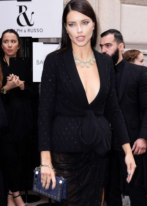 b7ddaf8d10407 Adriana Lima – Ralph and Russo Fashion Haute-Couture F W 2016 2017 in Paris
