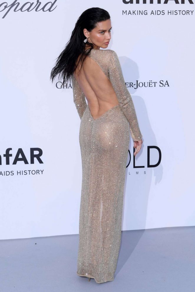 Adriana Lima – Red Carpet at  amfAR's Cinema Against AIDS Gala in Cannes