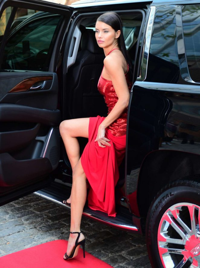Adriana Lima – 'Red Hot' Photoshoot in NYC