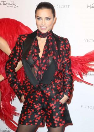Adriana Lima - Unveils her Madame Tussauds Wax Figure in New York