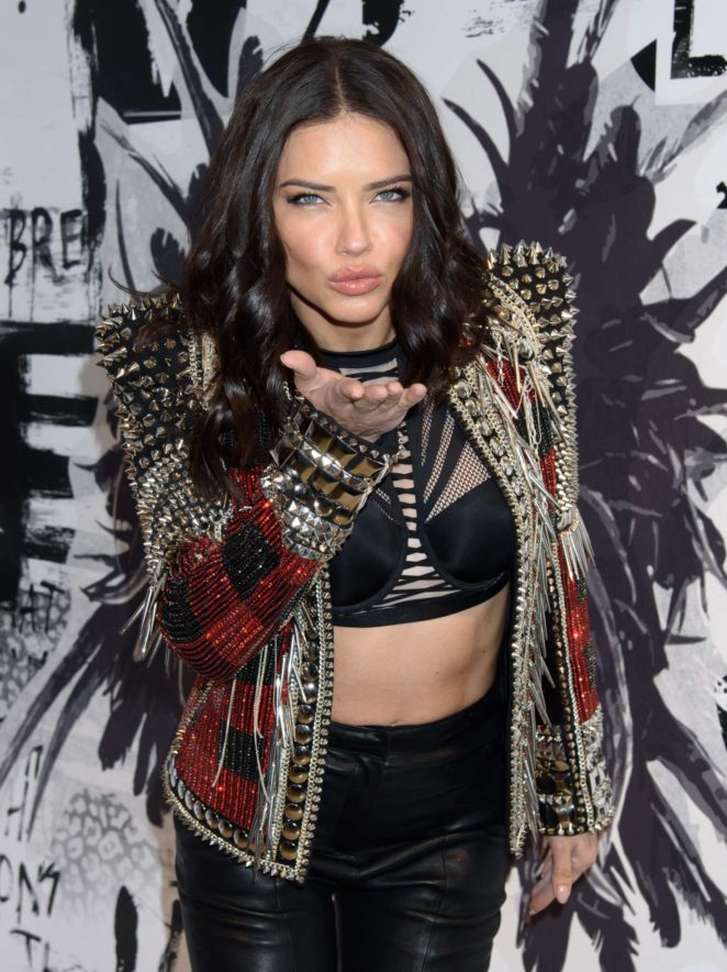 Adriana Lima - Victoria's Secret Shop The Runway VS x Balmain in NYC