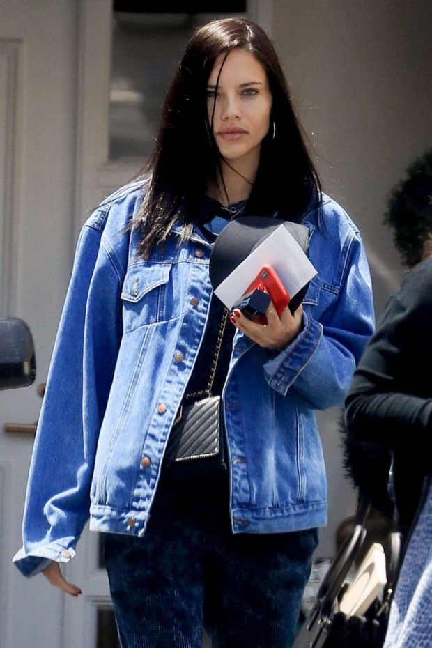Adriana Lima - Visits a dermatologist in Beverly Hills