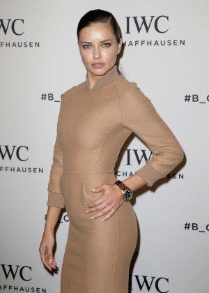 Adriana Lima Visits the IWC booth during the launch of the Pilot's Watches Novelties in Geneva