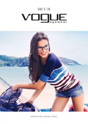 Adriana Lima - Vogue Eyewear Spring 2015 Campaign