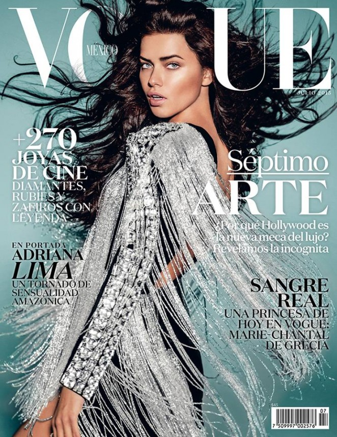 Adriana Lima - Vogue Mexico Magazine (July 2015)