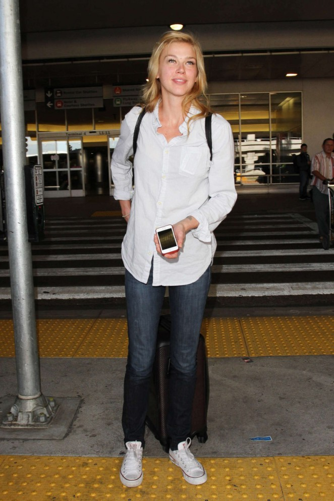 Adrianne Palicki - Arrives at LAX Airport in Los Angeles