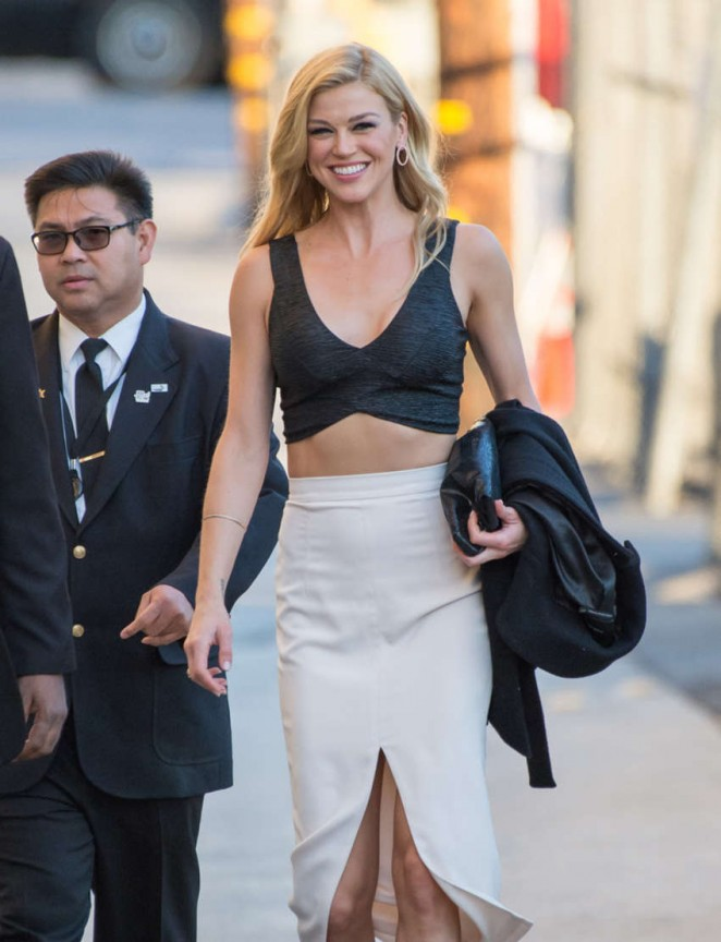 Adrianne Palicki - Arriving at 'Jimmy Kimmel Live' in Hollywood