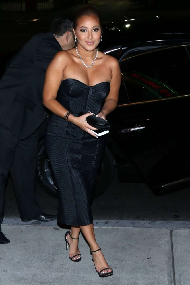Adrienne Bailon - Arriving at Mel's Dinner in Hollywood